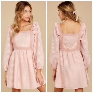 Red Dress Boutique Pink Striped Smocked Dress